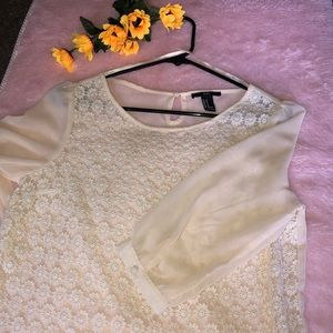Cream tan blouse